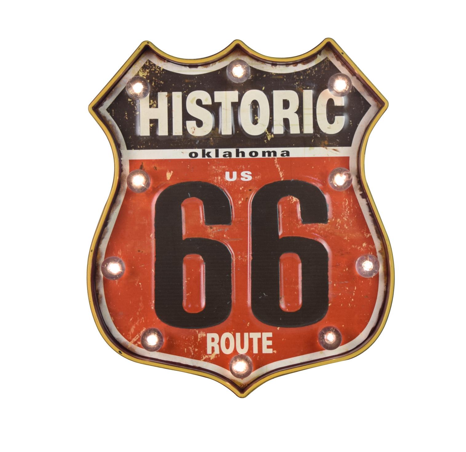 Enseigne lumineuse historic route 66