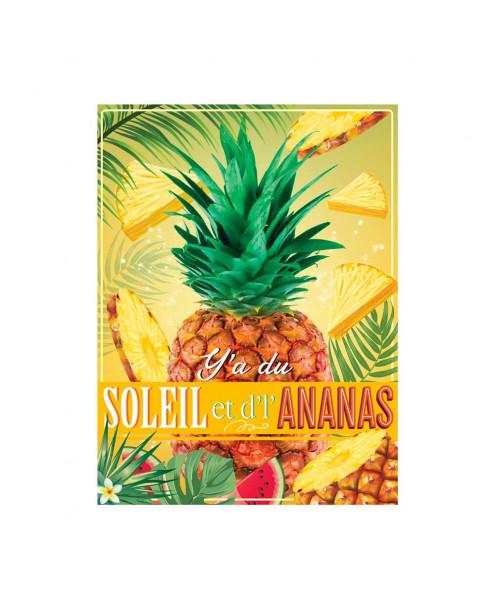 Plaque métal ananas