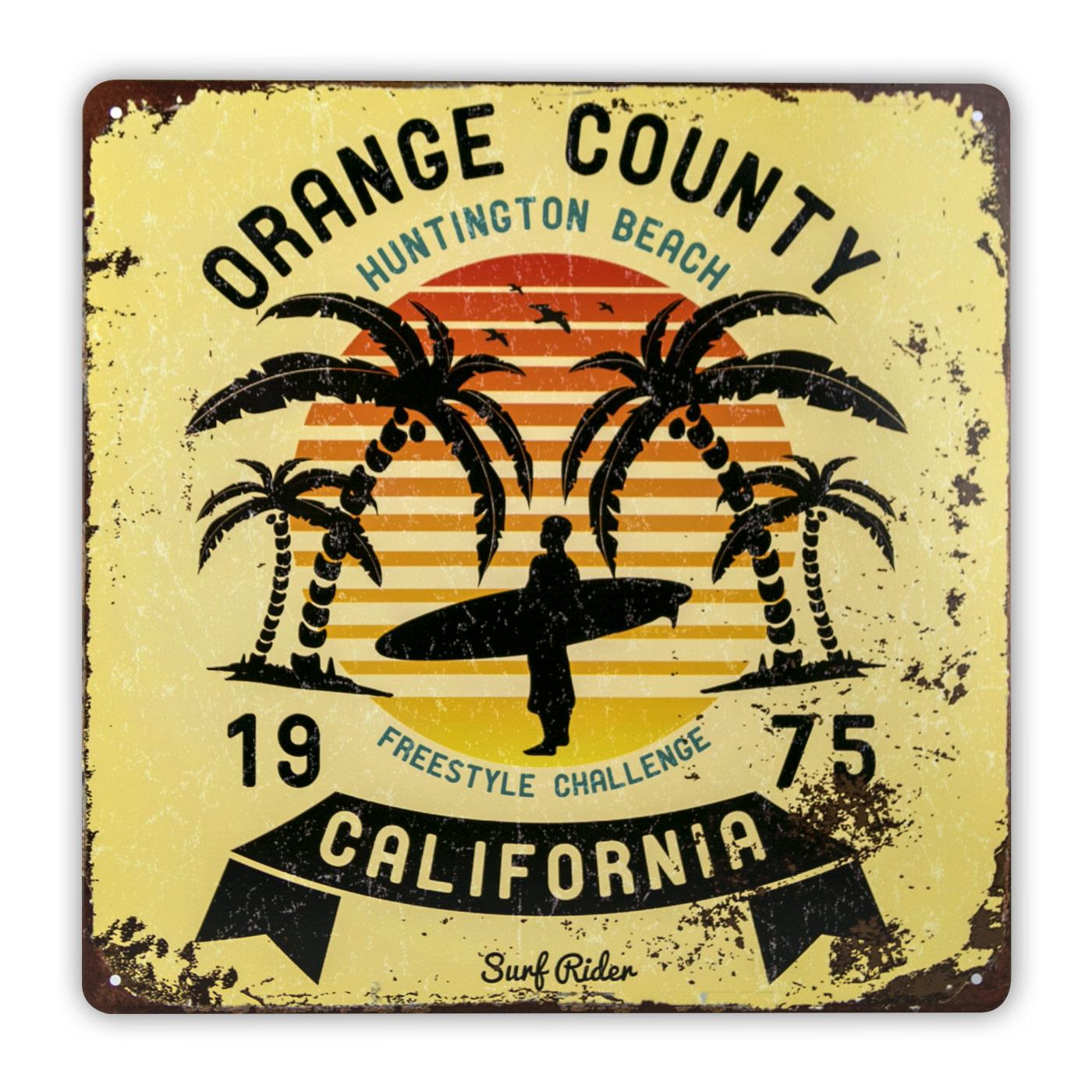 Plaque métal surf rider orange county