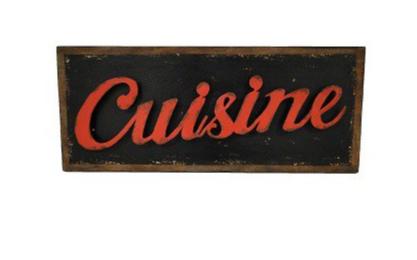 enseigne cuisine plaque vintage plaques m tal cuisine et restauration inexmob. Black Bedroom Furniture Sets. Home Design Ideas