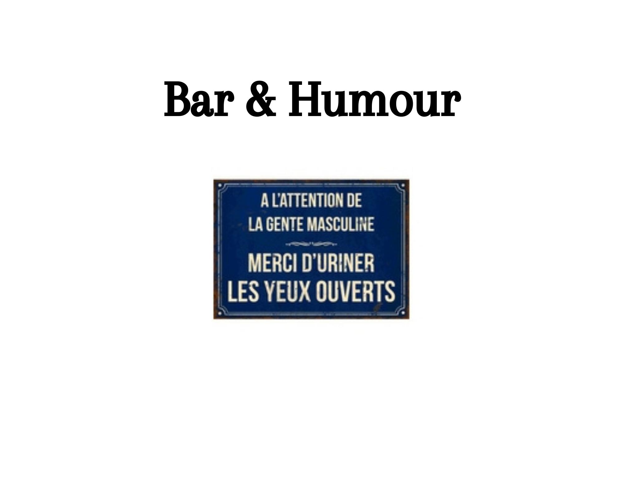 Bar & humour