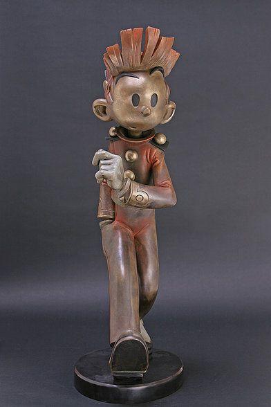 ga232_Franquin - grand Spirou en bronze