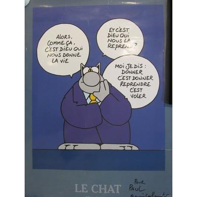 Geluck Philippe - Affiche Le chat + dédicace