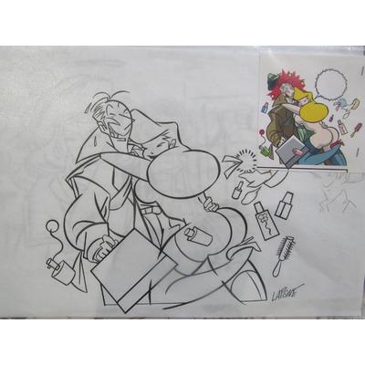 Lapone,Antonio - illustration originale Pin-up A.D.A