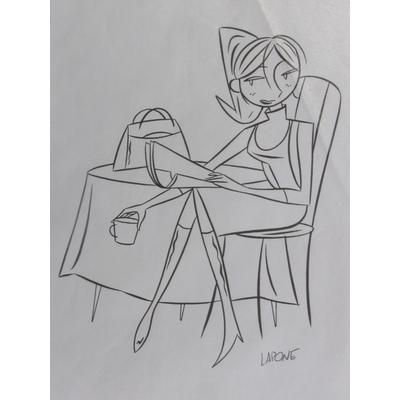 Lapone,Antonio - illustration originale Pin-up