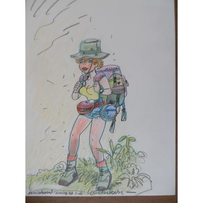 Wasterlain - dessin original Jeannette Pointu