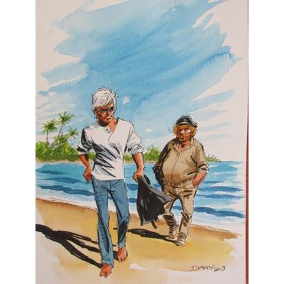 Dany- illustration originale - Bernard Prince et Barney Jordan