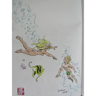 Dany- illustration originale - Olivier Rameau et Colombe - T.8