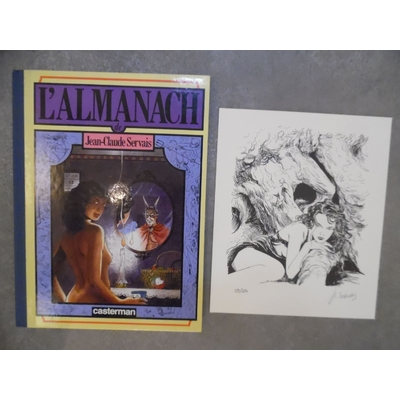 Servais Jean-Claude - L'Almanach + ex-libris signé