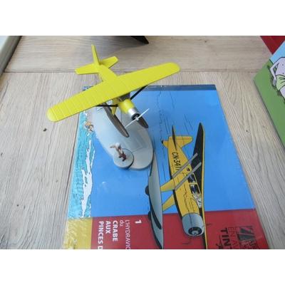 Hergé - En avion Tintin - L'hydravion jaune + livret