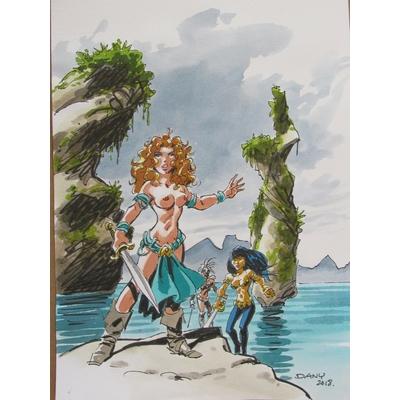 Dany- illustration originale - Les guerrières de Troy