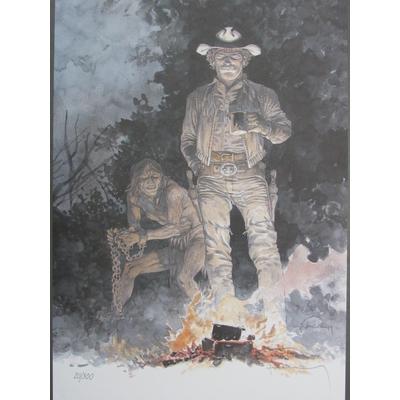 Hermann - Ex-libris Comanche - Le prisonier - signé