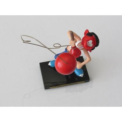 Franquin André - Figurine Gaston en résine - Bilboquet bowling