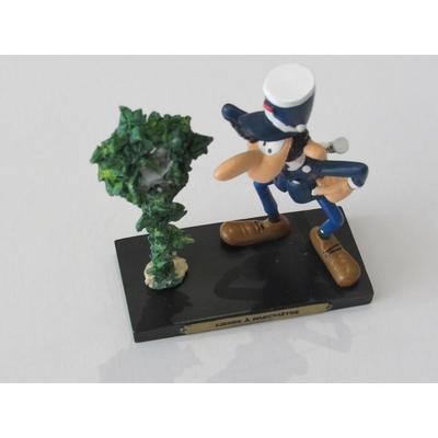 Franquin André - Figurine Gaston en résine - Lierre à parcmètre