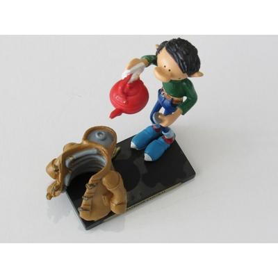 Franquin André - Figurine Gaston en résine - chauffage central