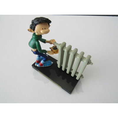Franquin André - Figurine Gaston en résine - Radiateur à café