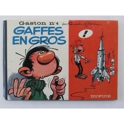 Franquin André - Jidéhem - Gaston T.4 -Format à l'italienne - EO 1965