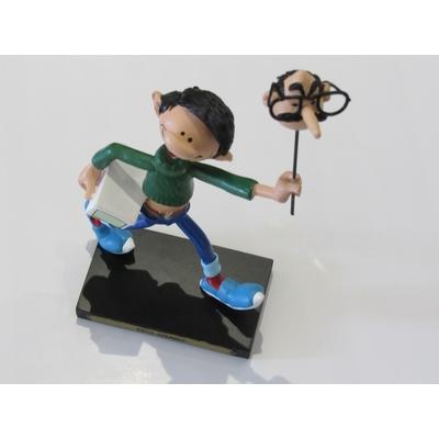 Franquin André - Figurine Gaston - Tête Jivaro