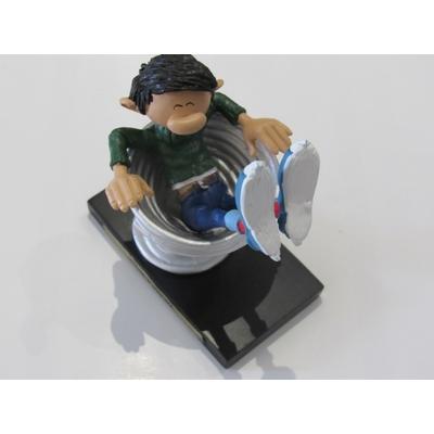 Franquin André - Figurine Gaston - Siège ressort