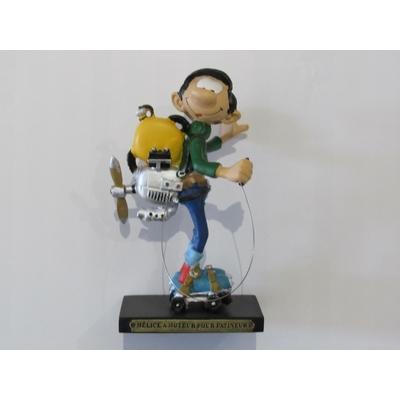 Franquin André - Figurine Gaston - Hélice à moteur pour patineur