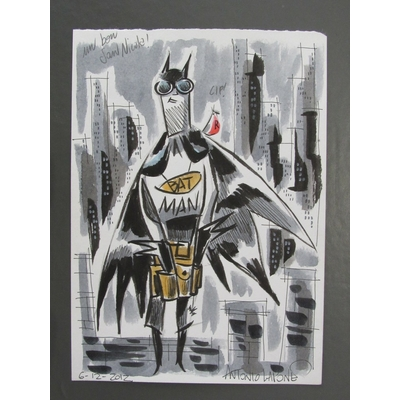 Antonio Lapone - illustration originale Batman signée