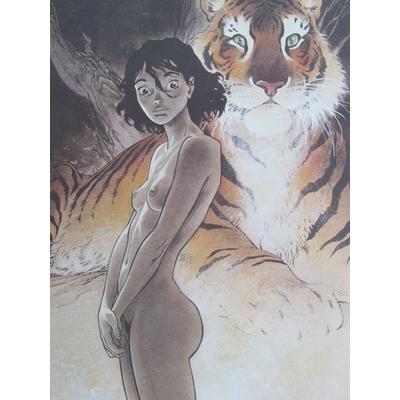 Frank -litho Zoo Manon et le tigre -signée
