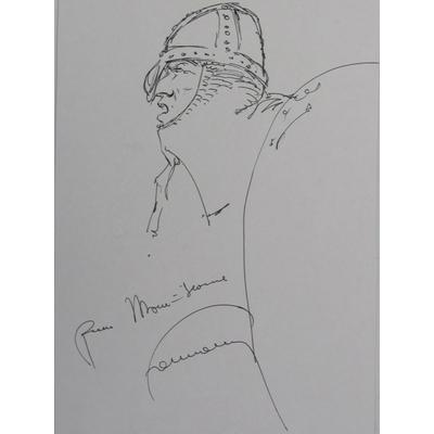 Hermann - illustration originale -Les tours de Bois-Maury - signée