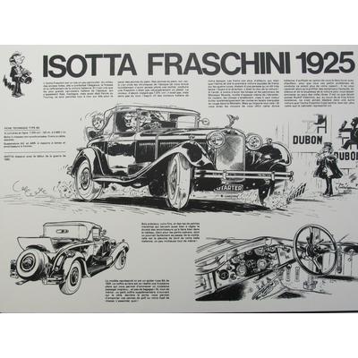 Jidéhem - Sérigraphie Starter - Isotta Fraschini 1925 - signée