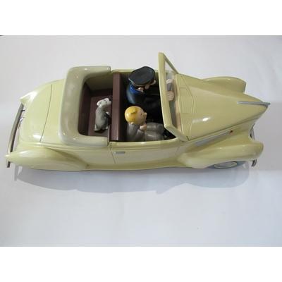 Hergé-voiture Tintin Lincoln Zephyr - 2ème version