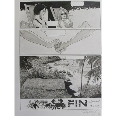 Renaud - planche originale - Les crabes - signée