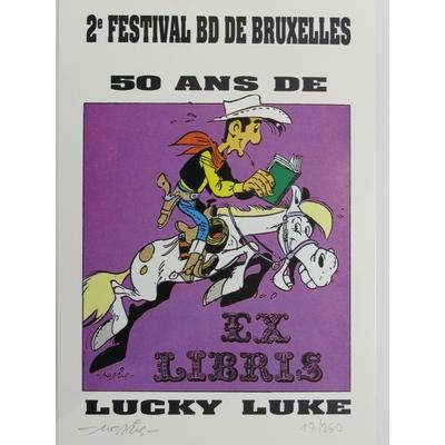 Morris - Lucky Luke - ex-libris - 250ex.-signé