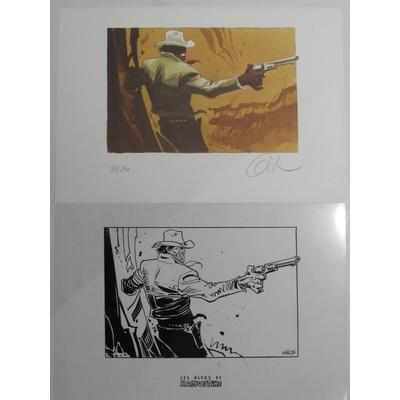 Gir- ex-libris Blueberry + film - 150 ex. - signé