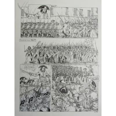 Osi André - planche originale Napoléon - Le général vendémiaire