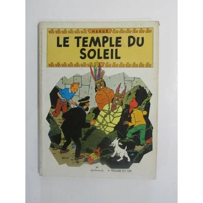 Tintin - Album Pop Hop - Le temple du soleil - Cartonné - EO - (1969)