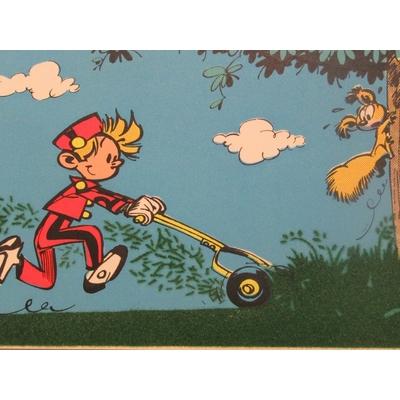Franquin André - 12 cartes postales Spirou ,Gaston et le Marsupilami - Flock-Indus