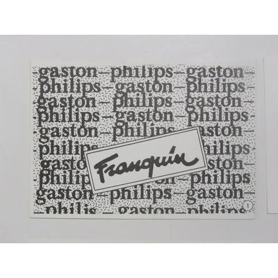 Franquin André - 15 cartes postales Gaston - Philips c'est plus sûr
