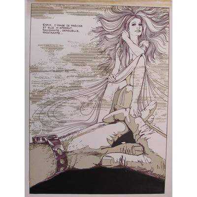 Christian - planche originale Phaline - BD érotique