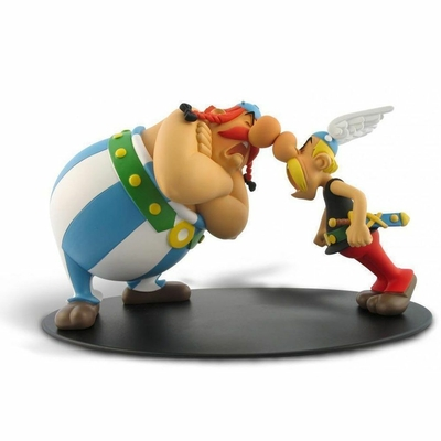 Uderzo - figurine Astérix et Obélix - La Zizanie