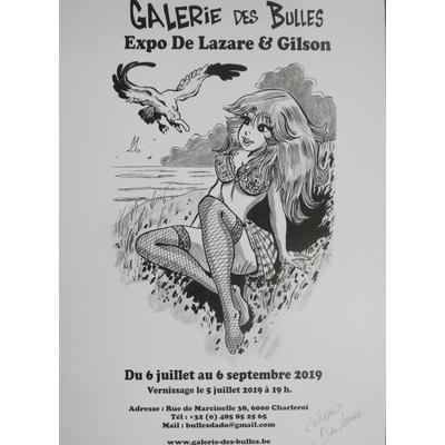 """De Lazare et Gilson - affiche expo """"Galerie des bulles - limitée à 10 ex.-signée"""