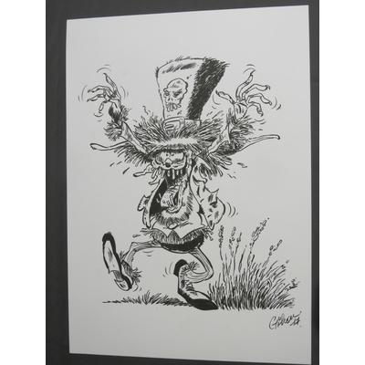 Gilson Bruno - illustration originale l'épouvanteur - format A3 -signée