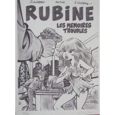 De Lazare Dragan - reproduction Rubine, les mémoires troubles - limitée à 99 - signée