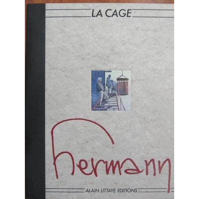 Hermann- Portfolio La cage - format planches originales -limité et signé