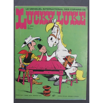 Morris -Journal de Lucky Luke n°2 - avec poster Clint Eastwood