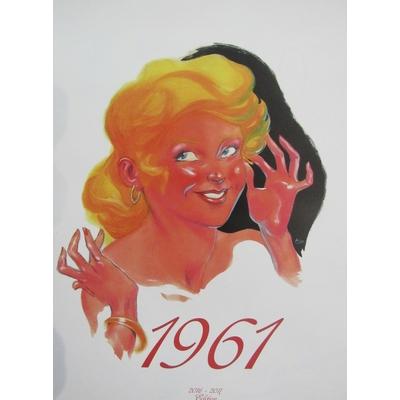 Meynet, Michetz et Séverin- calendrier collector 1961 -signé