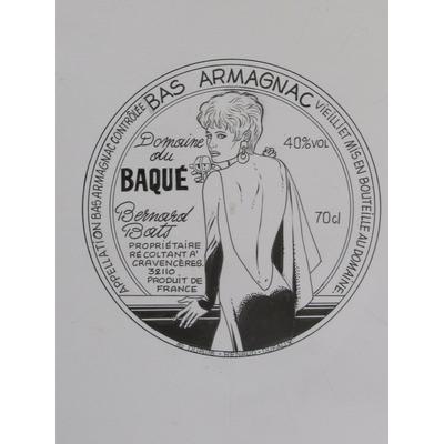 Renaud - illustration originale - étiquette d'Armagnac