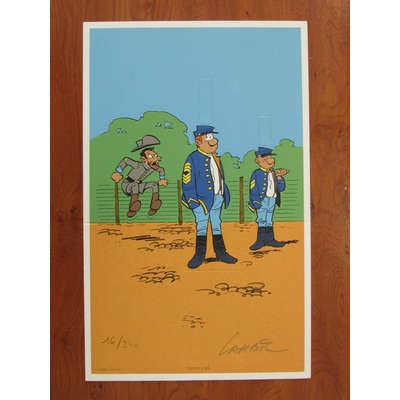 Lambil - ex-libris - Tuniques bleues - signé