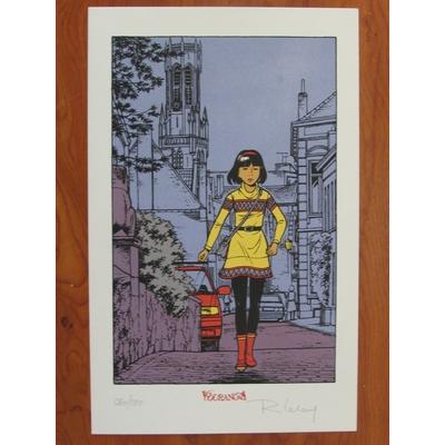 Leloup Roger - ex-libris - sérigraphie Yoko Tsuno - signé