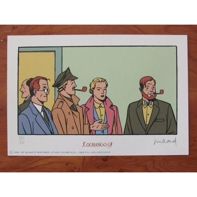 Juillard André - ex-libris Blake et Mortimer - sérigraphie- signé
