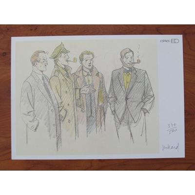 Juillard André - ex-libris Blake et Mortimer - signé