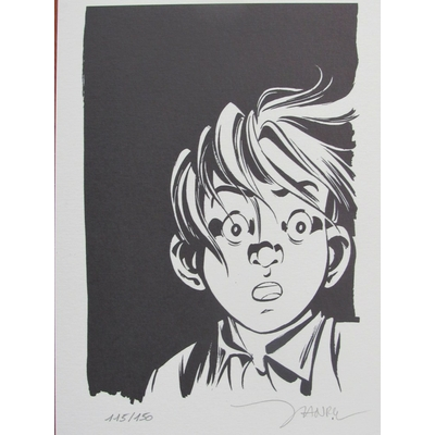 Janry et Tome -  Ex-libris Spirou - signé